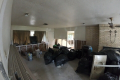 Flooded Living room gutted