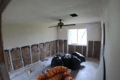 Flooded Master bedroom gutted