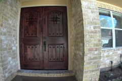 New Front door after completed restoration