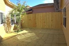Backyard space transformation