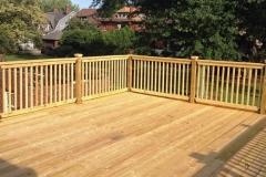 Large backyard wood deck