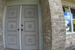 Before: Home remodeling in Houston, damaged front door