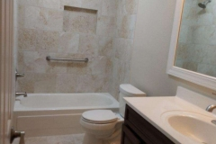 Master bathroom after restoration