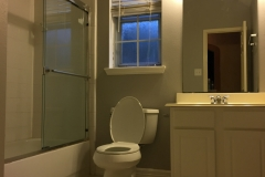 Before: Updated bathroom renovation in Sugar Land