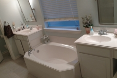 Before: Bathroom remodeling in Houston with his and hers sinks