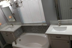 After: Bathroom remodeling in Houston with his and hers sinks