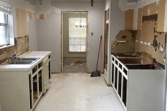 During: Kitchen renovation