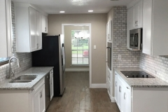 After: Kitchen remodeling a galley kitchen in Jersey Village