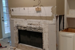 Before: Fireplace home remodeling in Sugar Land