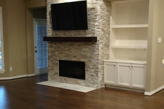 After: Fireplace home remodeling in Sugar Land