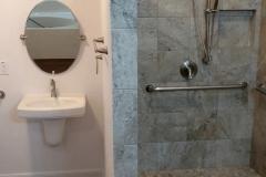 Bathroom remodeled walk in shower in Jersey Village