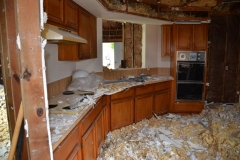 During demo for kitchen renovation in Houston, Texas