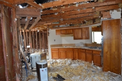 During demo for kitchen renovation in Houston