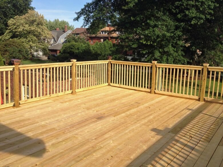 Wooden deck aging in Place in Houston, Sugar Land, Katy TX